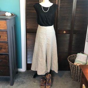 GAP Linen Maxi Skirt Size 0